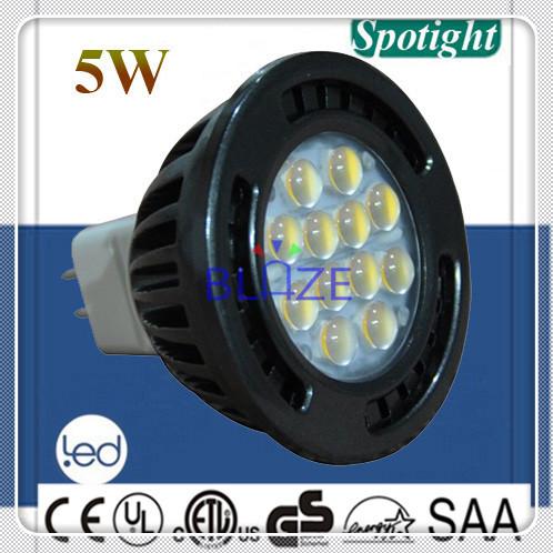 Top Selling 5W SMD LED light Bulbo 12 led MR16 Ampoules LED Spotlight Lamp GU5.3 DC 12V H48mm Replace 50W 500pcs(China (Mainland))
