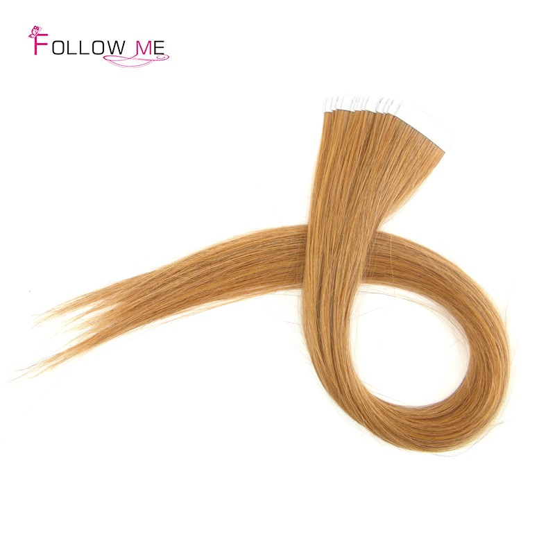 Follow Me Straight Tape In Human Hair Extensions Indian Tape In Hair Extensions Remy 40 Pieces 2.5g Seamless Hair Extensions