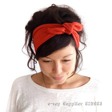 New Brand Ear Elastic Turban Headband for Woman and Girl Headwrap Turbante Knot Hairband Bandana Headwear Hair Accessories A0420(China (Mainland))