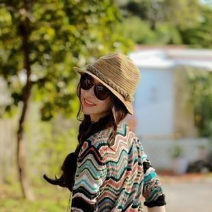 Chili fedoras fashionable casual cap spring and autumn sunbonnet women's cap straw braid fashion beach cap