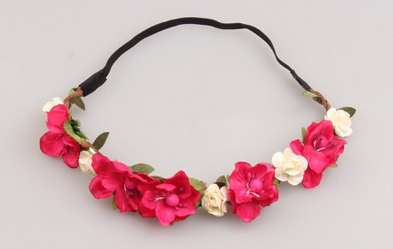 8 colors 2015 hair accessories Women s headband Bohemian big Floral Flower Rose Party Wedding Hair