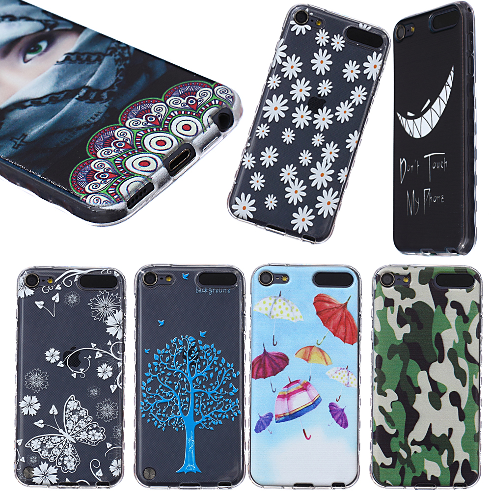 Hot Supper thin Slim Soft Silicone Case Fashion Pattern Painting Anti slip Gel TPU Cover for Apple ipod touch 5 5G 6 Shell(China (Mainland))
