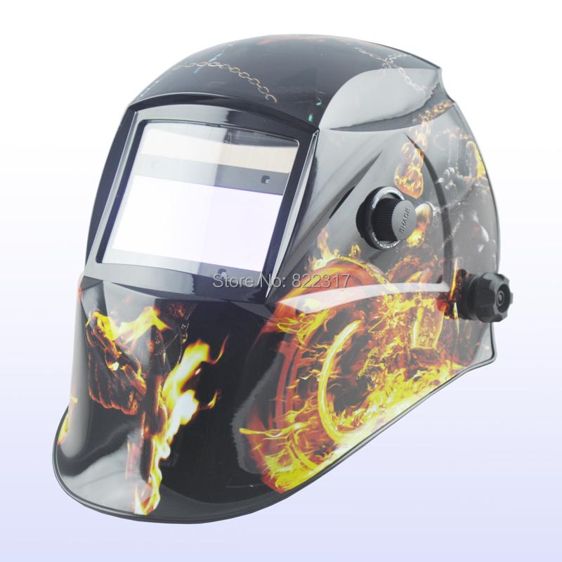Auto darkening welding helmet/welding mask/MIG MAG TIG(Yoga-718G) War chariot)/4 arc sensor(China (Mainland))