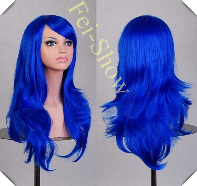 19 colours 70CM Cosplay Synthetic fiber high quality wig ,Wavy wig, heat resistant fibre long wig, Wigs popular in Japan<br><br>Aliexpress