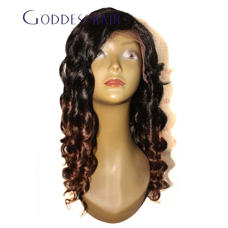 6A Unprocessed  Ombre Lace Front Wig Peruvian Virgin Human Hair Glueless Two Tone Ombre Lace Wig high quality Free Shipping<br><br>Aliexpress