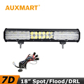 Auxmart 7D LED Light Bar 18 inch 180W CREE Chips Offroad LED Bar Flood Spot Beam