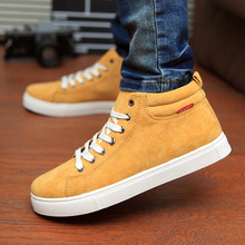 2015 winter autumn high top fashion men shoes casual breathable flats adult male loafers sneakers size