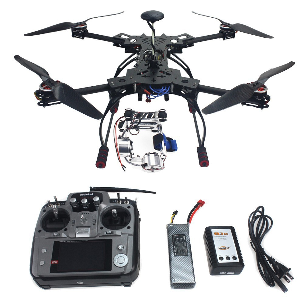 RC RTF GPS Drone HMF600 Carbon Fiber Foldable H Shaped Quadcopter Hexacopter APM2 8 with Motor