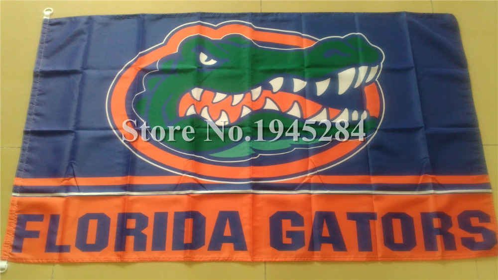 NCAA Florida Gators Flag Plastic D-Rings New 3x5ft 90x150cm Polyester Flag Banner, free shipping(China (Mainland))