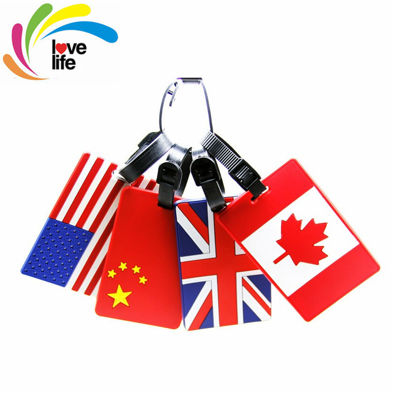 2016 Hot Sale Soft Plastic Luggage Tags Card Travel Suitcase Checked Information Card National Flag Series Luggage Large Tag(China (Mainland))