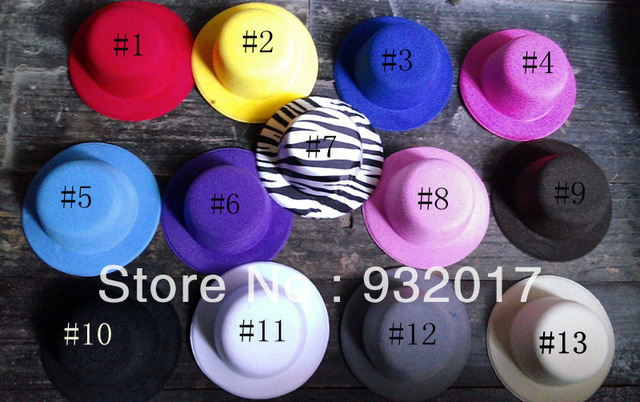 13 colors Mini Top Hat Fascinator base girls 52pcs/lot Free shipping
