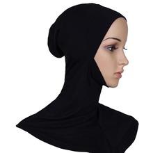 Hijab Headwear Full Cover Underscarf Ninja Inner Neck Chest Plain Hat Cap Scarf Bonnet 21 Colors F78(China (Mainland))