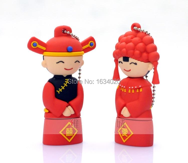 Sweet Wedding Toys Memory Card Pendrives USB 2.0 High Speed Pen Drive 64GB/32GB/16GB/8GB USB Flash Drivesk(China (Mainland))