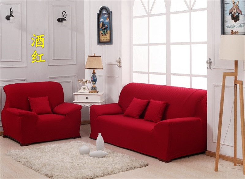 HBQ universal sofa cover European rose red slipcover elasticity sofa covers cushion cover couch cover home textile(China (Mainland))