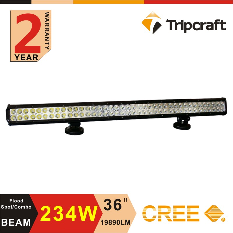 Free shipping! 234W LED Light Bar Off road SUV Truck Fork lift, trains, boat Mine Lamps(China (Mainland))