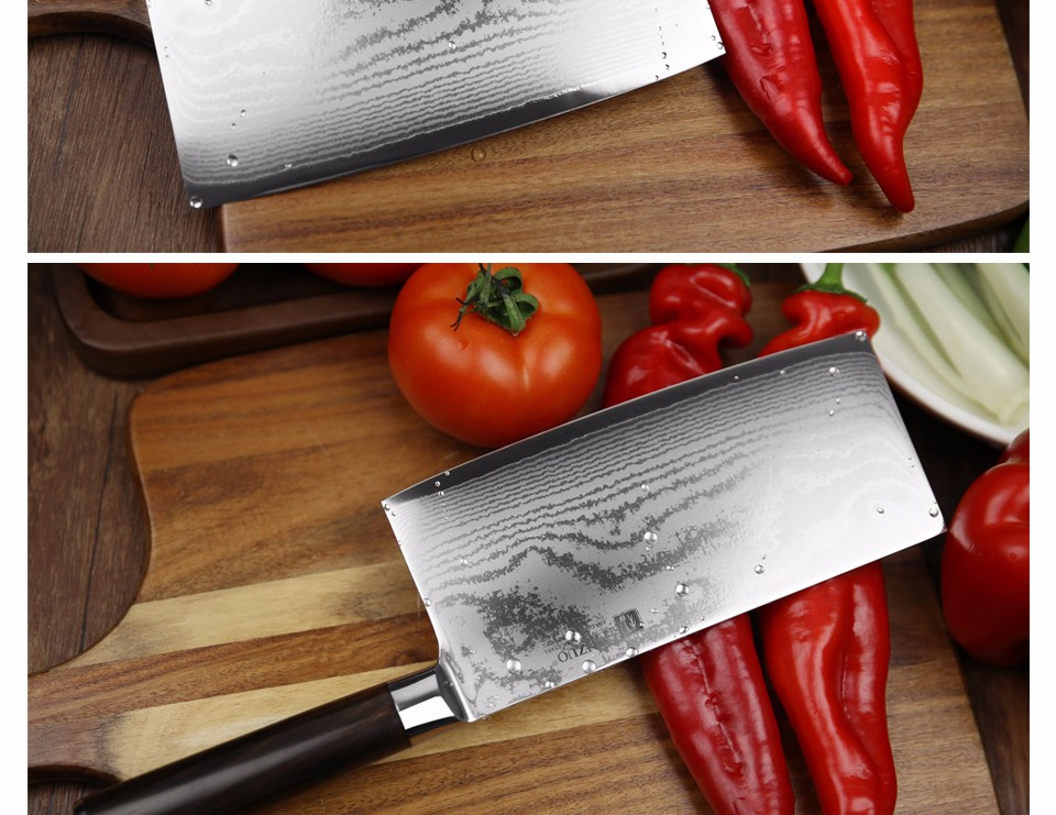 "Buy XINZUO 7"" inch kitchen knife 67 layer Japanese VG10 Damascus Chinese chopper knife sharp melon knife ebony handle free shipping cheap"
