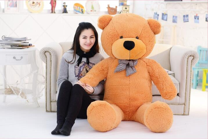 Big Teddy Bear brown 220cm super giant toy huge large plush toys children soft kid children baby doll big stuffed animals gift(China (Mainland))