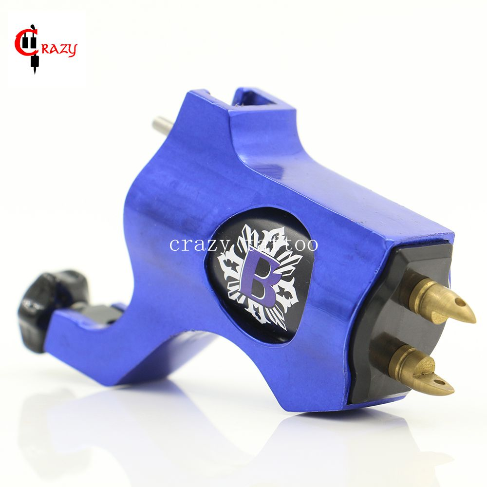 New Rotary Tattoo Machine Bishop Style Blue Colors Tattoo Machine For Tattoo Shader Liner Fashion Tattoo Machine Free Shipping(China (Mainland))
