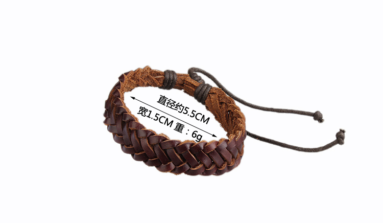 Free shipping 100 Genuine Cowhide Leather bracelet men for women 2015 wholesale fashion leather jewelry