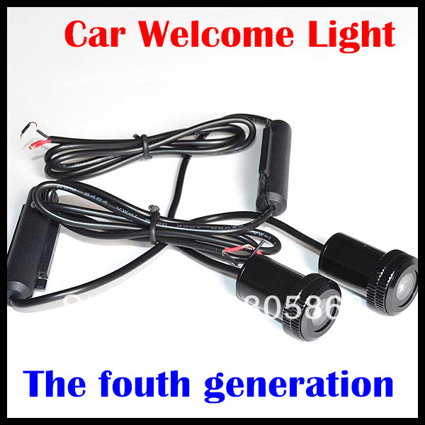 Newest 7W LED car Welcome Lights the fourth  door light welcome lights hotest led car logo light ghost shadow light