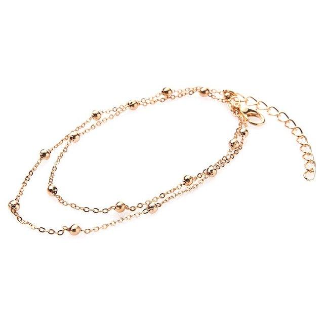 Изысканный бусины украшены ножной браслет для женщин горячая распродажа мода позолоченный ...