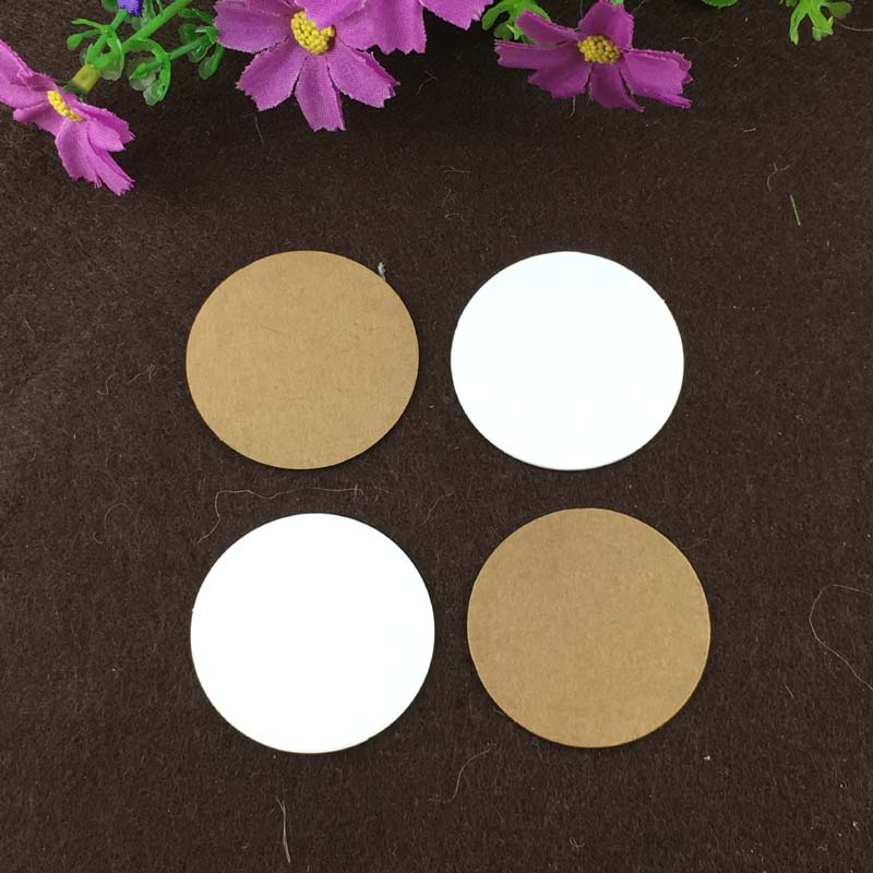 1000PCS 4cm Round Paper Cards Blank Small Kraft  or White Cards  DIY  for Handmade Gift/Note/Book/Cake/Box/Jewelry/decorate<br><br>Aliexpress