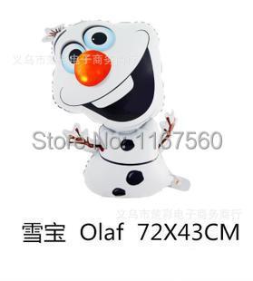 72*43 см Супер форма Олаф снеговик День Рождения Свадьбы Рождество Украшения Фольга Гелием Воздушный Шар Поставки Детей Подарочные игрушка