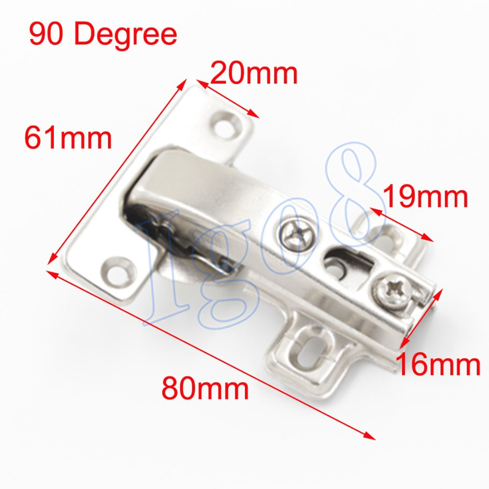 The Current Price of 4pcs Steel 90 Degree Cupboard Cabinet Door Hinges(China (Mainland))