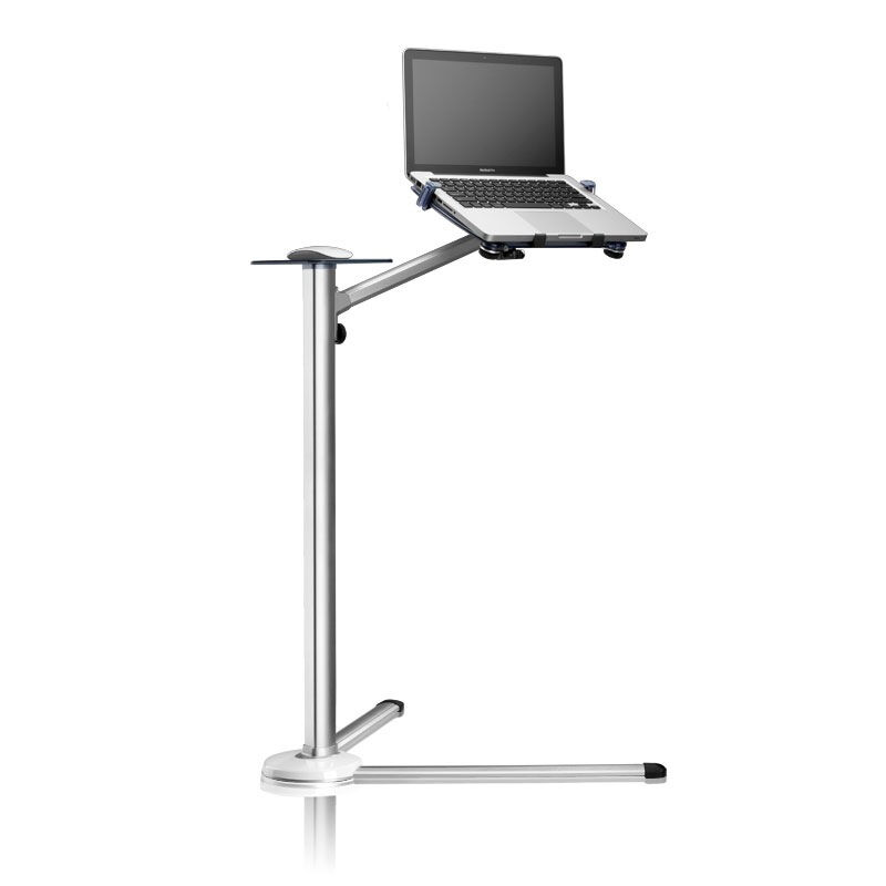 UP-7 Height Adjustable Laptop Floor Stand Aluminum Lapdesks Rotating Notebook Bed Holder with Mouse Tray for MacBook 10-17 inch(China (Mainland))