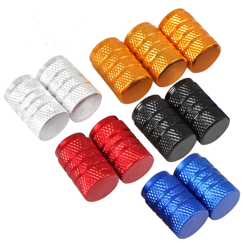 4Pcs/Lot Universal Aluminum Car Tyre Air Valve Caps, Bicycle Tire Valve Cap, Car Wheel Styling Round Black Blue Silver Gold Red(China (Mainland))