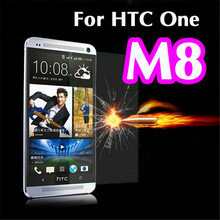 Premium Tempered Glass For HTC One M8 M8S Screen Protector Toughened Protective Film With Retail Package