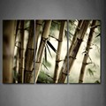 3 Piece Wall Art Painting Many Dry Bamboos Portrait Print On Canvas The Picture Botanical 4