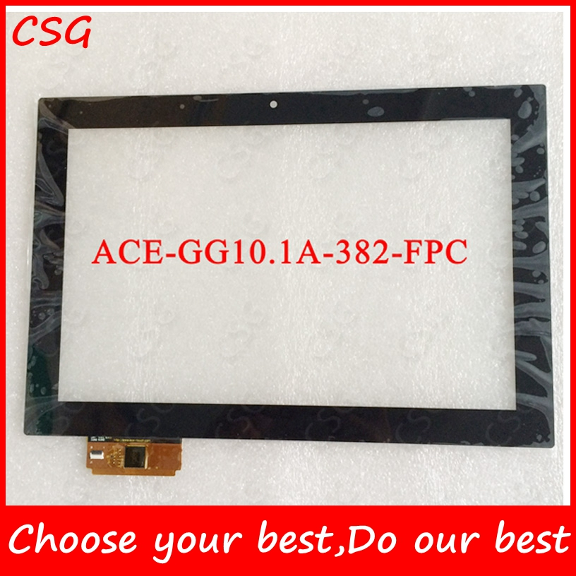 White Black ACE ACE-GG10.1A-382 10inch ACE-GG10.1A-382-FPC 10.1inch Capacitive Touch Screen Panel Glass Tablet PC touch iPS(China (Mainland))