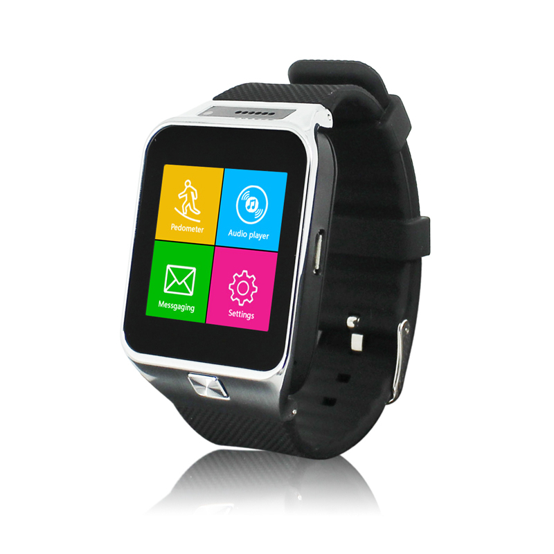2015 New Bluetooth Smart Watch & Smart Watch Phone with camera support SIM TF card Smartwatch for smartphone Free Shipping