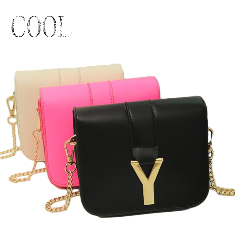 Women pu leather handbag small cute 2015 High school colorful jelly candy colored shoulder bag sac