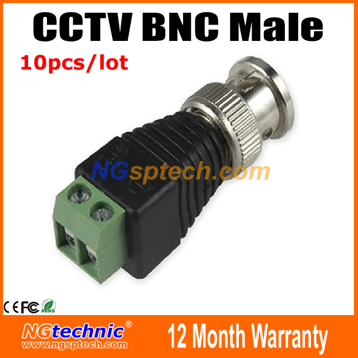 10Pcs/Lot Mini Coax CAT5 To Camera CCTV BNC UTP Video Balun Connector Adapter BNC Plug For CCTV System Free Shipping(China (Mainland))