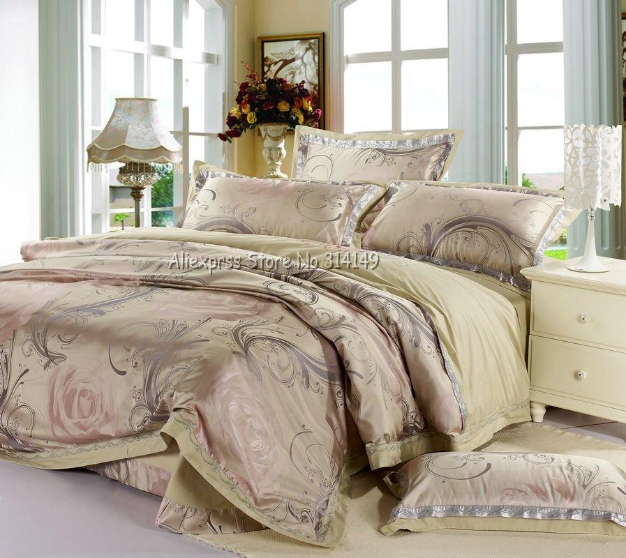 light pink floral prints colorful imitated silk duvet