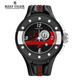 Reef Tiger RT Chronograph Sport Watches for Men Dashboard Dial Swiss Quartz Movement Watch with Date