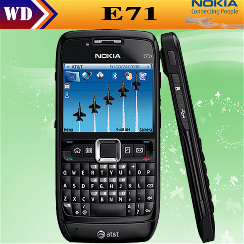 Original Nokia E71 QWERTY Keyboard 3.15MP Wi-Fi Symbian OS FM radio cell phone refurbished(China (Mainland))