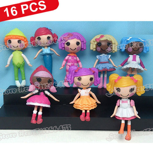 "16 Pcs/Lot NEW Baby Toys Cute Lalaloopsy Mini Dolls PlayHouse 16 Unique Styles for Girl Approx 8cm/3"" Drop Shipping High Quality(China (Mainland))"