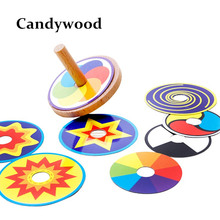 Wooden Toy Funny Colorful Beyblade Toy Spinning Top with 8 Drawing Cards Classic Beyblades Toy for Kids Children(China (Mainland))