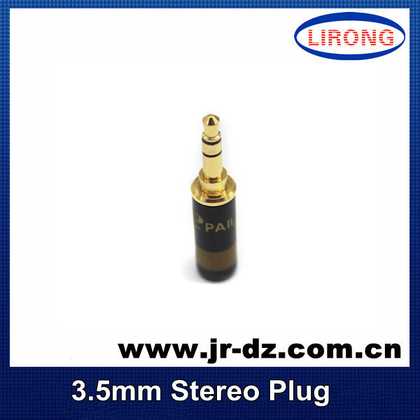 Good Quality 3.5 3 Tracks Stereo Plug Straight Speaker Audio cable Connector Adapter Cable - Chaozhou Xiangqiao District Lirong Electronics Factory store