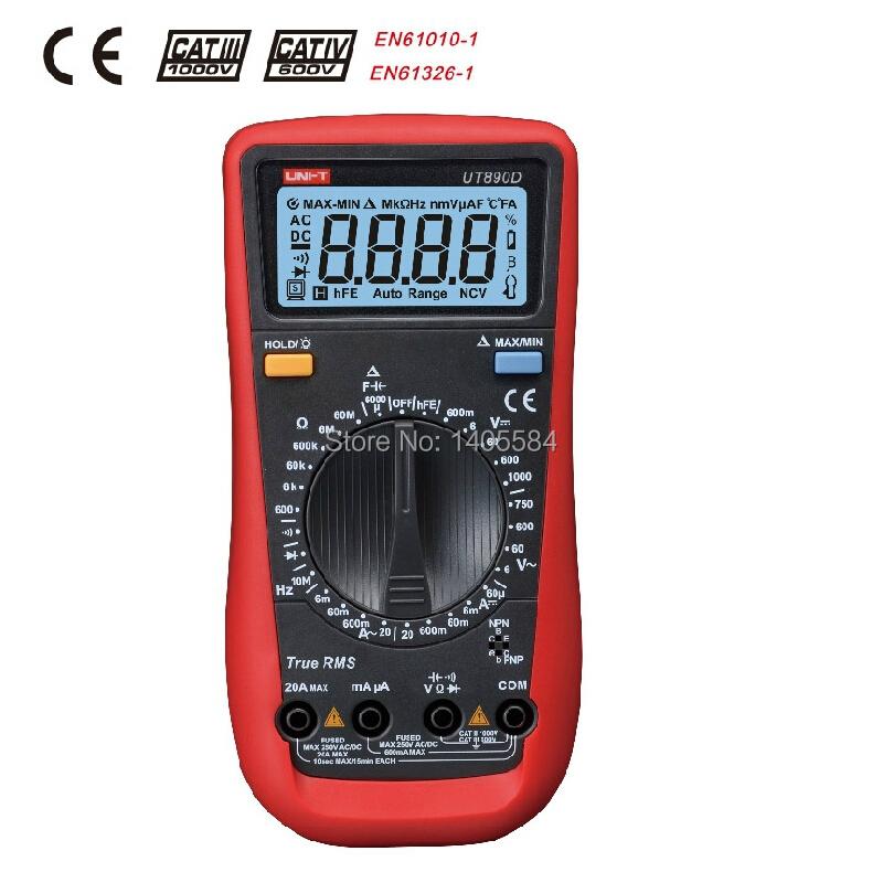 2015 New arrival UNI T Digital Multimeter manual range true RMS REL AC DC frequency multimeter