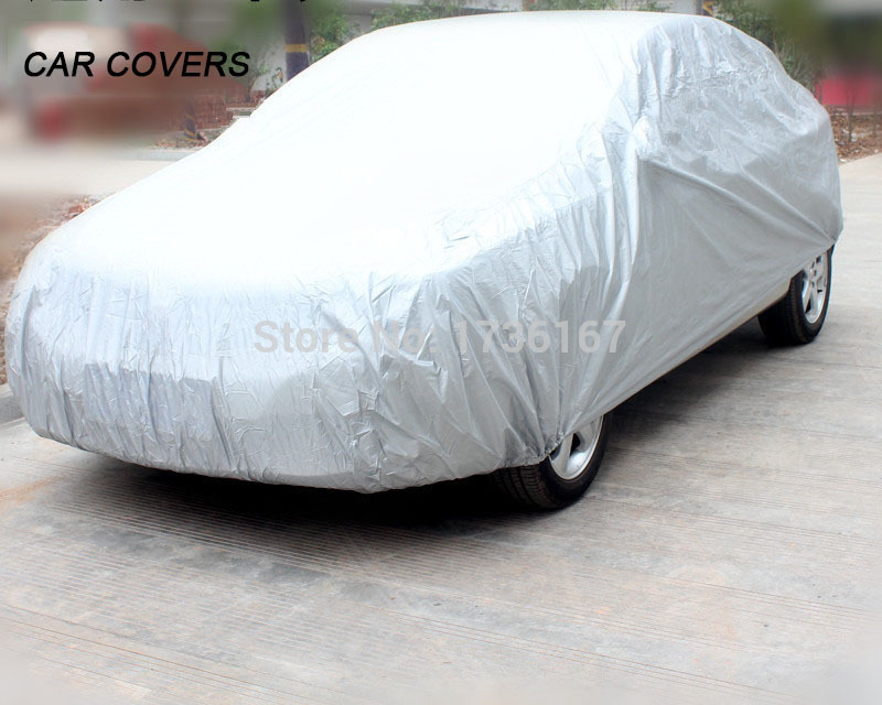 Car Cover Case For Cars Sun Cover Waterproof Silver Peva Multi Size Breathable Uv Protection Shield Atv Car-Covers Covers(China (Mainland))