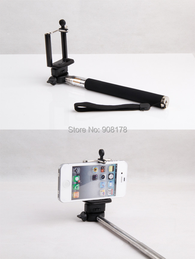 selfie stick handheld extender monopod holder for iphone 6 samsung n9600 camera smart phone in. Black Bedroom Furniture Sets. Home Design Ideas