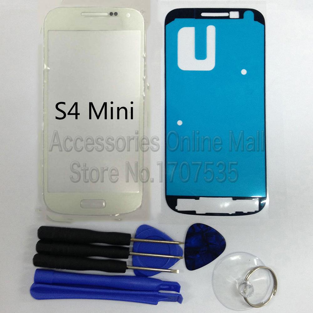 Outer Glass Front Lens Touch Screen Panel For LCD Digitizer For Samsung Galaxy S4 mini I9190 I9195 [White]