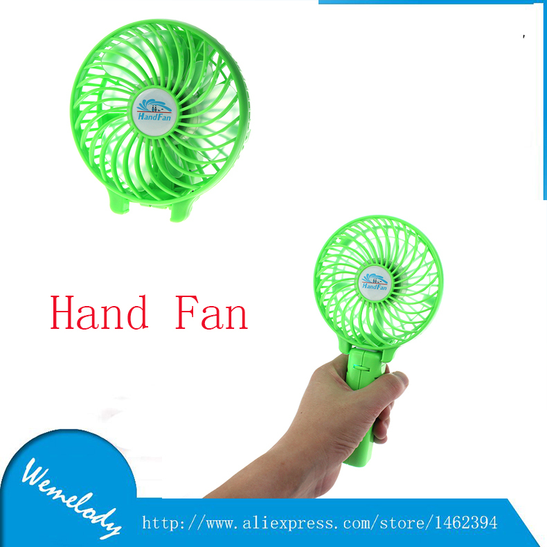 Гаджет  Hand Held Electric Air Cooler Rechargeable Portable USB Mini Fan Small Batttery Hand Fans None Бытовая техника