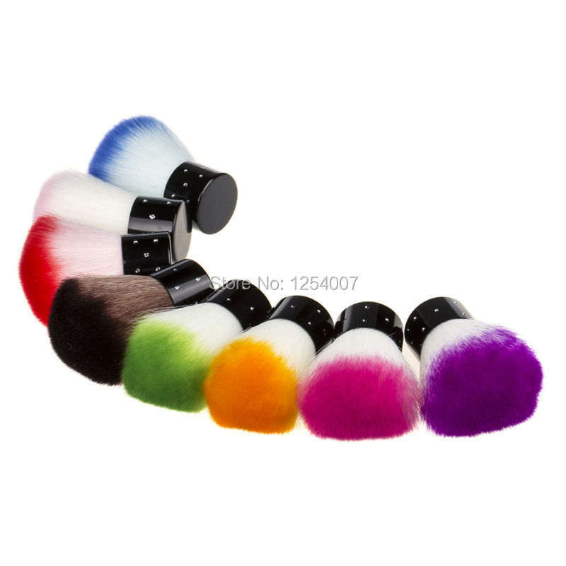New Colorful Nail tools Brush For Acrylic & UV Gel Nail Art Dust Cleaner nail dust brushes(China (Mainland))
