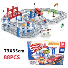 High quality large size baby model building slot car toys education traffic children toys(China (Mainland))