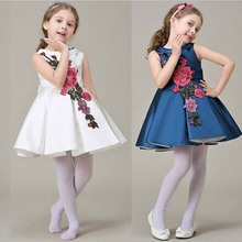 Reatil 2016 Flower Girl Christening Wedding Party Pageant Dress baby First Communion and Toddler Gowns Child Bridesmaid dress(China (Mainland))